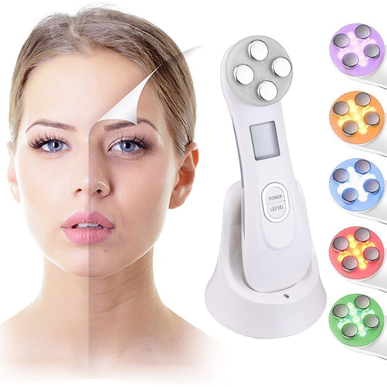 Ultrasuoni Viso Antirughe, Ultrasuoni Terapia LED Radiofrequenza Viso e Corpo Massaggiatore Viso Antirughe Ultrasuoni Dispositivi Antirughe Viso, Anti Rughe Anti-età per la Pelle Dell'acne per il Ringiovanimento Della Pelle Cura del Viso Quotidiana HOSEON