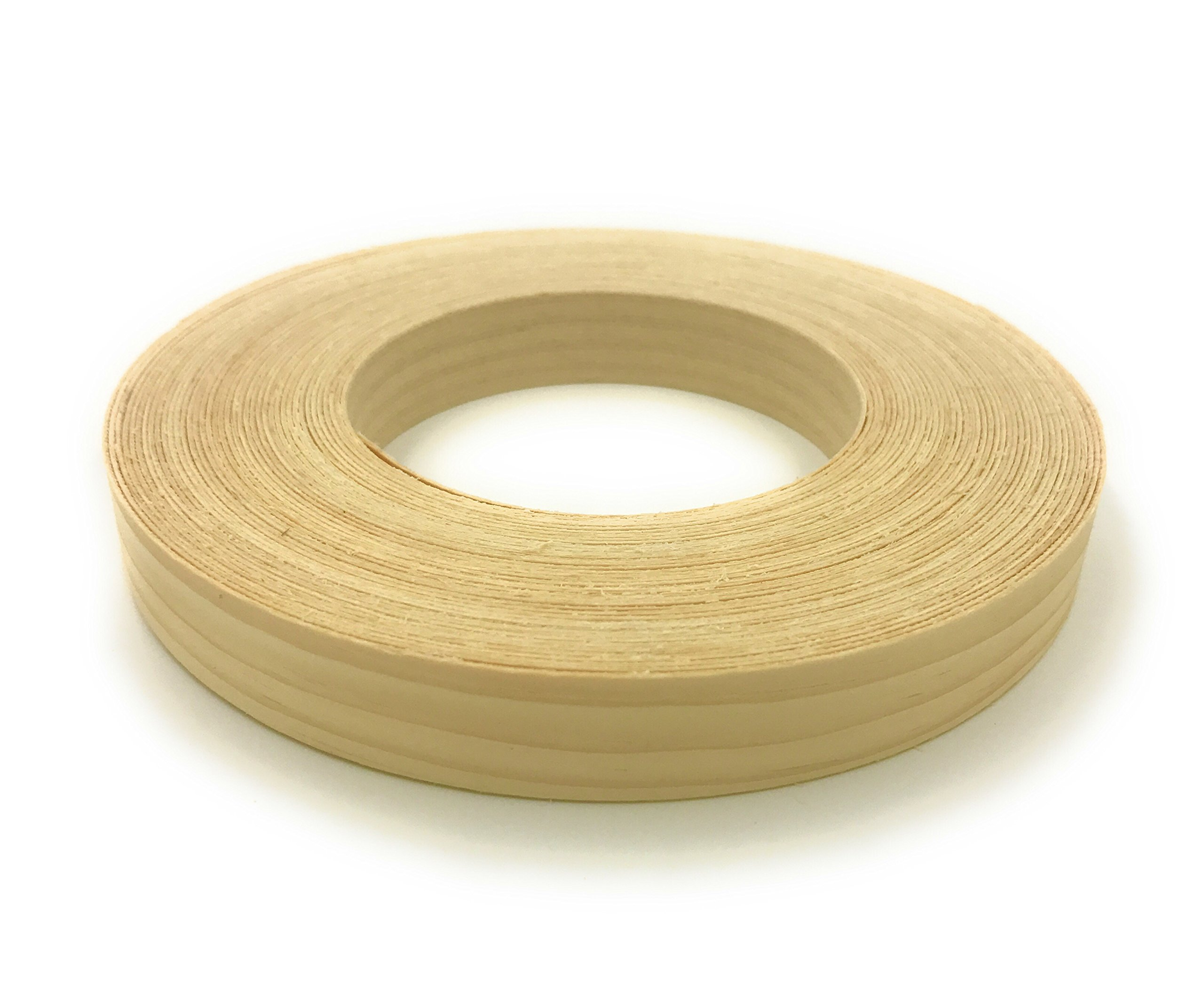White Pine 3/4'' X 50' Roll Preglued, Wood Veneer Edge banding, Flexible Wood Tape, Easy Application Iron On with Hot Melt Adhesive. Smooth Sanded Finish.. Made In USA. by Edge Supply