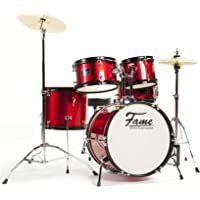 "Kiddyset 5 PC Junior Drumset""Elias"" Red"