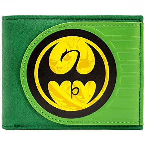 Cartera de Marvel Iron Fist Logo del dragón Danny Rand Verde ...