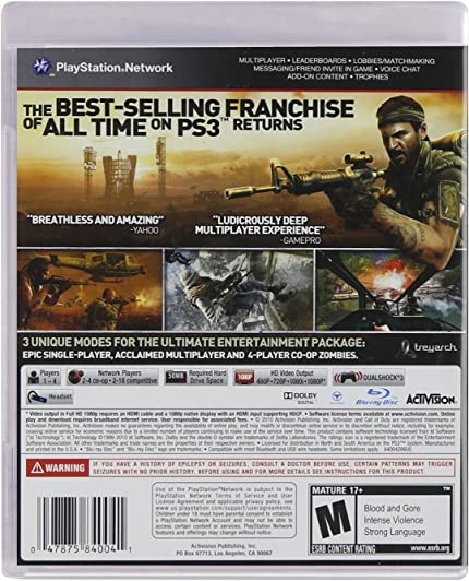 Amazon com: Call of Duty: Black Ops - Playstation 3: Video Games