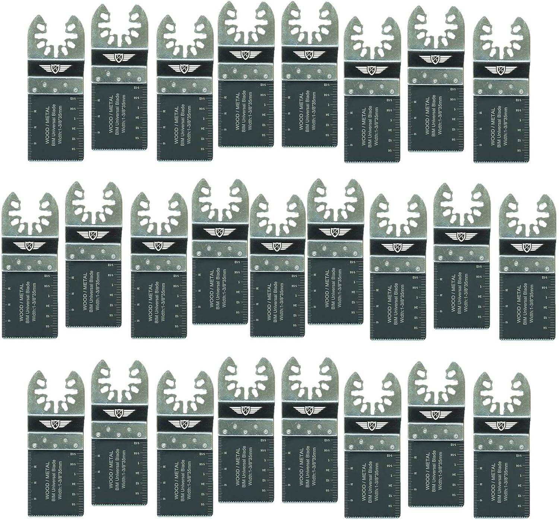 100 x TopsTools 35mm FA35B/_100 Fast Fit Metal Cutting Blades for Dewalt Stanley Black and Decker Bosch Fein Makita Milwaukee Parkside Worx Workzone Multitool Accessories Non-StarLock