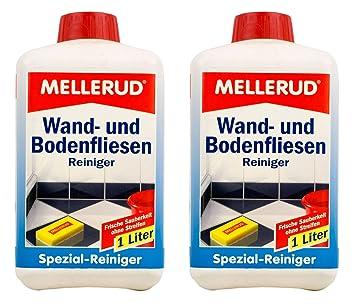2x Mellerud Wand Und Bodenfliesen Reiniger 1l Set Fliesen
