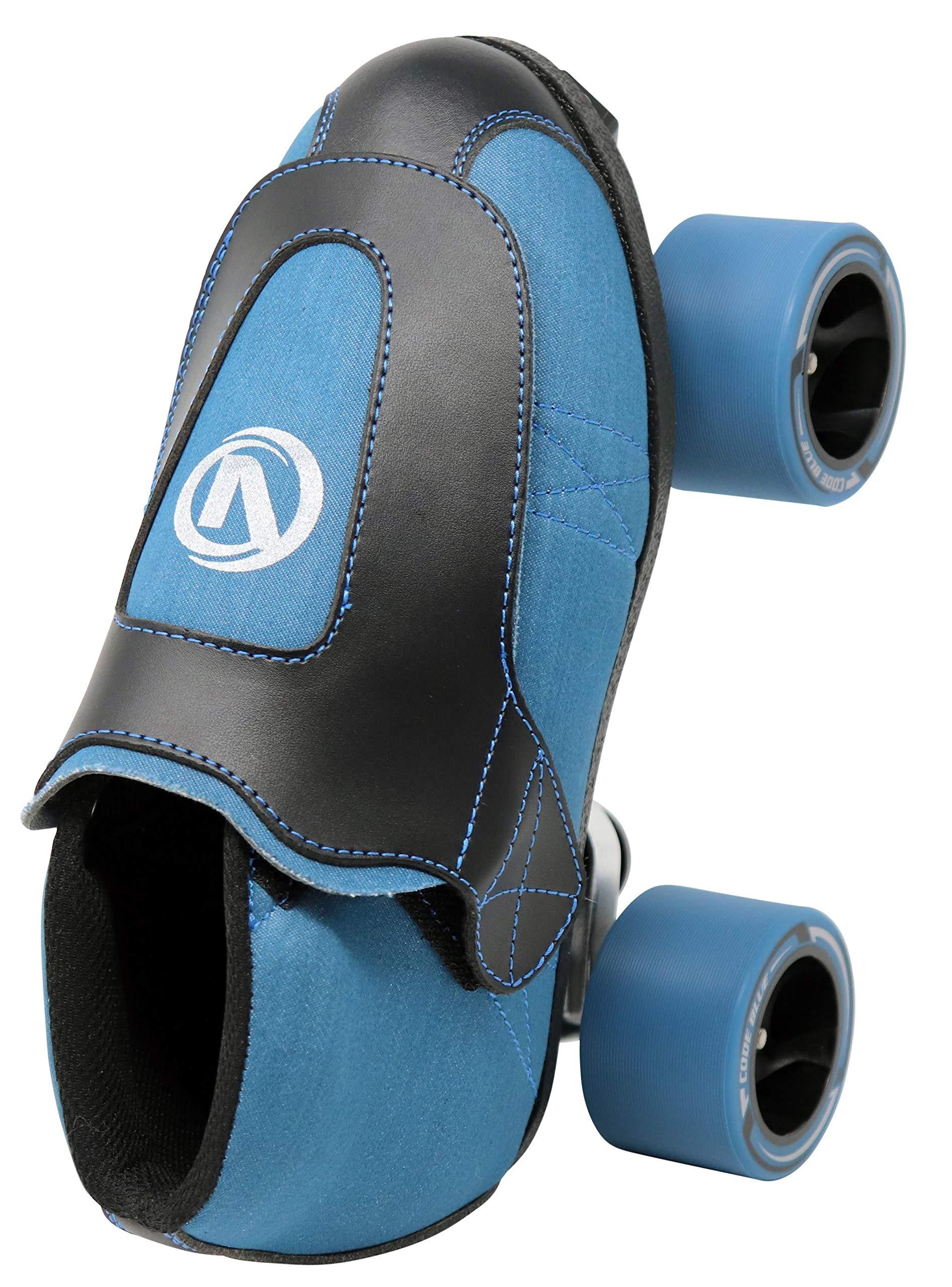 VNLA Code Blue Jam Skate - Mens & Womens Speed Skates - Quad Skates for Women & Men - Adjustable Roller Skate/Rollerskates - Outdoor & Indoor Adult Quad Skate - Kid/Kids Roller Skates (Size 9) by VNLA (Image #4)