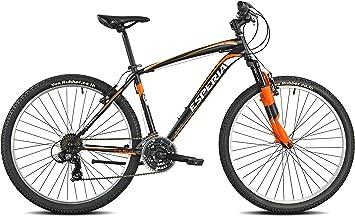 Esperia 108200U Portland - Bicicleta para Hombre, Negro/Naranja, Talla M: Amazon.es: Deportes y aire libre
