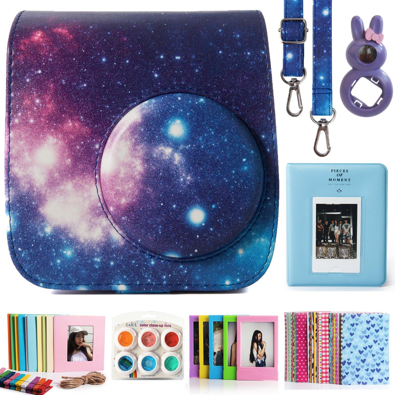 CAIUL Compatible Mini 7s Case Bundle with Album Galaxy, 7 Items Filters /& Accessories for Fujifilm Instax Mini 7s and Polaroid PIC-300 Camera