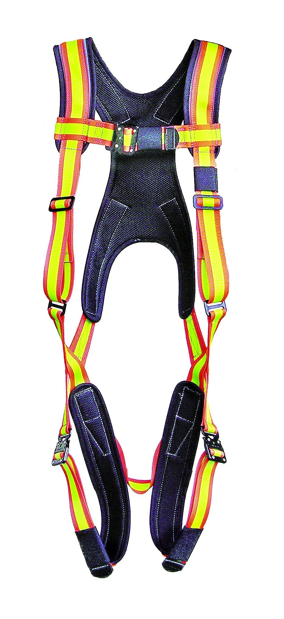 Super Anchor Safety PD-6101-HL Pro-Series Deluxe Full Body Harness plus Rear D-Ring, Large, Hi-Viz