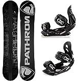 Snowboard Pathron Draft Grey 2015 + Bindings Raven s250 M/L