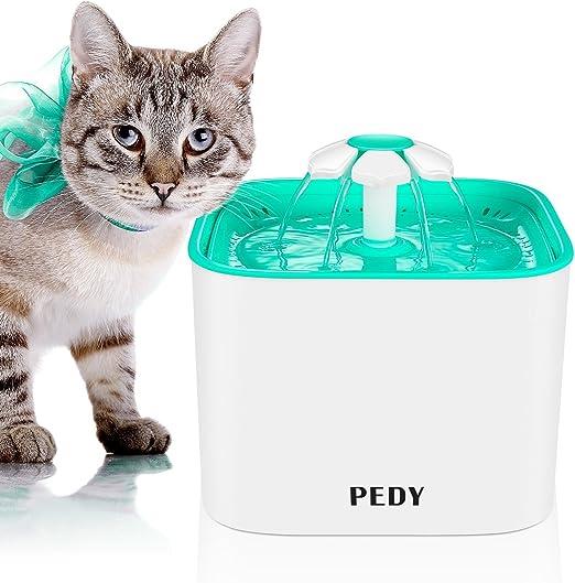 PEDY Fuente para Mascotas, Fuente de Agua Automática con Filtro de ...