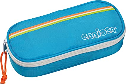 CARIOCA FLUO POUCH | Estuche Escolar con Cremallera, Porta-Lápices con Elásticos, Azul (23172/BLUE): Amazon.es: Juguetes y juegos