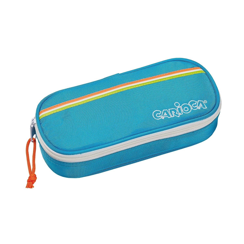 Portapenne con Elastici Blu Astuccio Bauletto con Zip 23172//BLUE CARIOCA FLUO POUCH