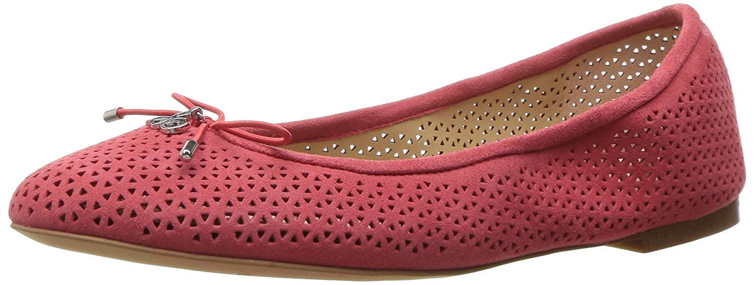 Sam Edelman Women's Felicia 2 Ballet Flat B01M1LNBBZ 8.5 B(M) US|Hot Coral Perforated Suede