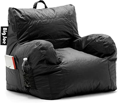 Amazon Com Big Joe Dorm Bean Bag Chair Stretch Limo Black Furniture Decor