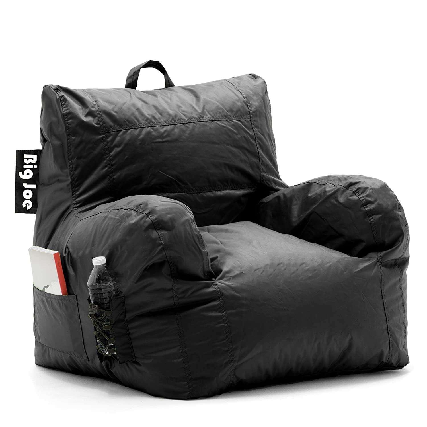 Big Joe Dorm Bean Bag Chair Stretch Limo Black Comfort Research
