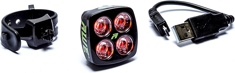 AWE/® AWEBlitz/™ 4 LEDs USB Rechargeable v/élos arri/ère Lumi/ère 40 Lumens