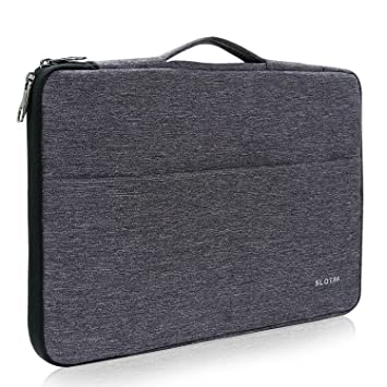 7aaaf24fca38 SLOTRA Laptop Sleeve With Handle Fit For 15-15.6 Inch Notebook Computer  Case/Ultrabook Tablet Briefcase Carrying Bag 360°Protective Macbook ...