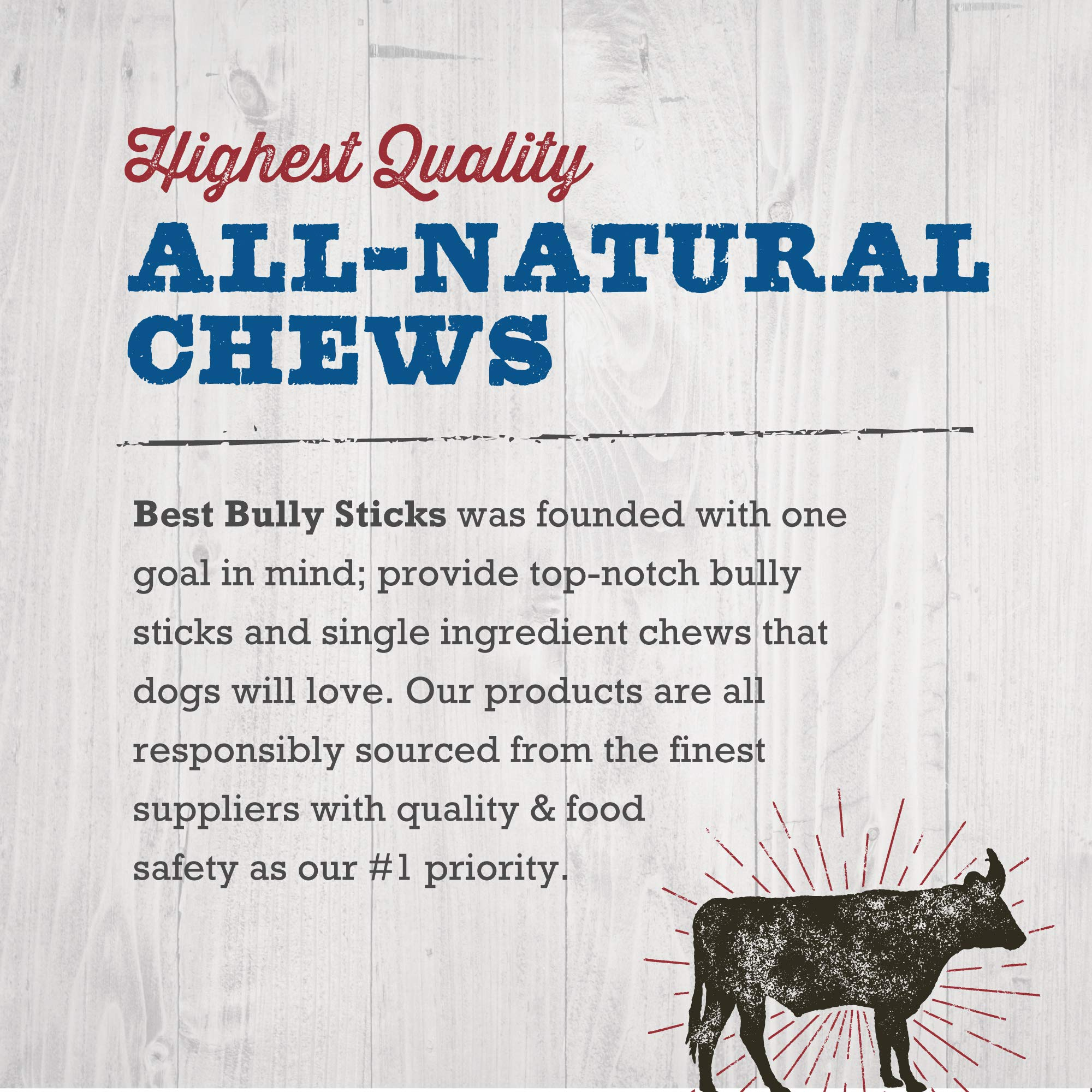 Best Bully Sticks 12-inch Jumbo Bully Sticks (25 Pack) 12-Inch Premium Jumbo Bully Sticks - All-Natural Beef Dog Chews for Aggressive Chewers by Best Bully Sticks (Image #7)