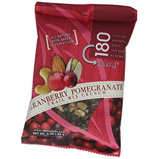 Mareblu Naturals Trail Mix Crunch, Cranberry Pomegranate, 3-Ounce Pouches (Pack of 8)