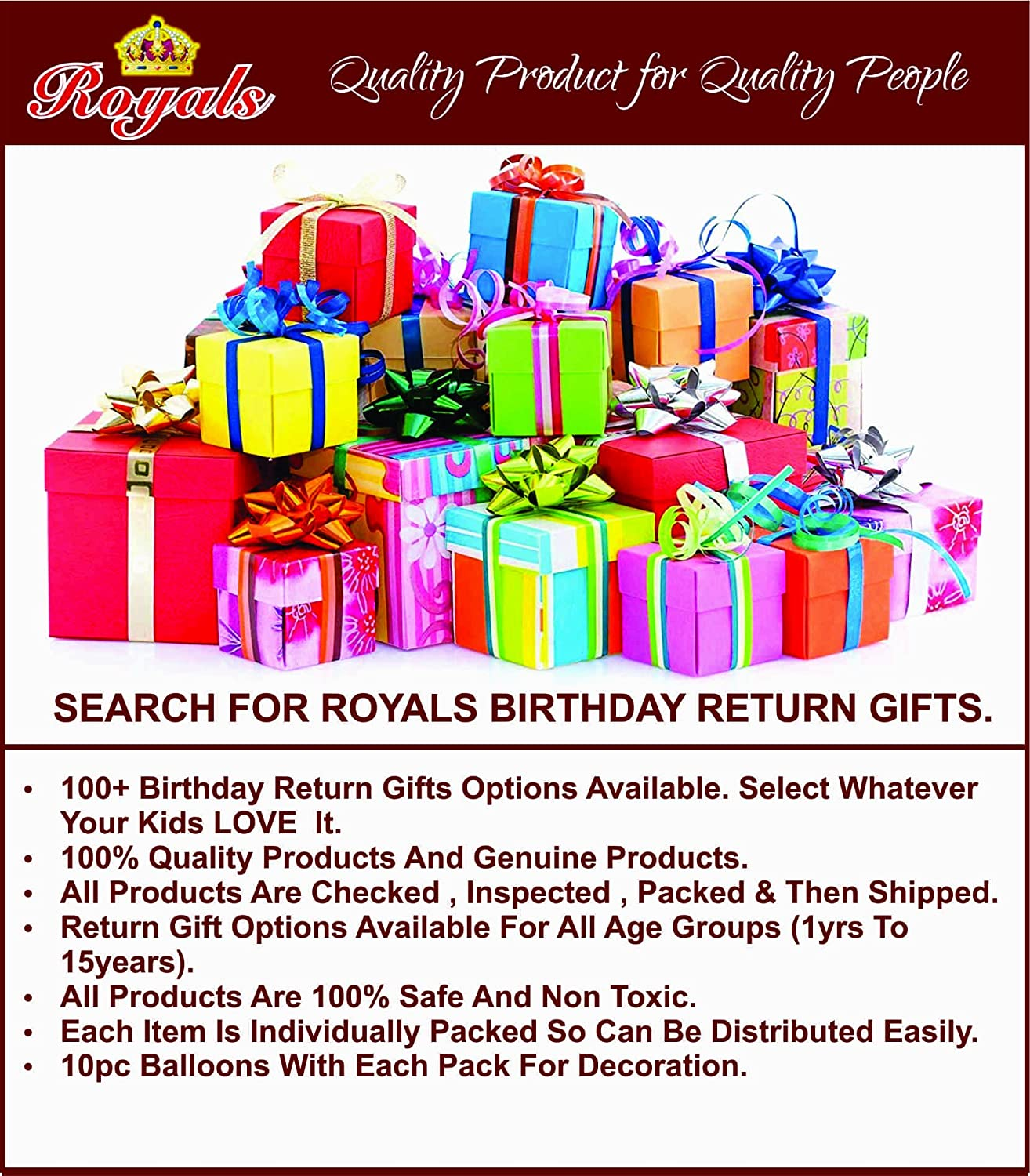 Royals Kids Favourite Birthday Return Gift Led Watch With Free 10
