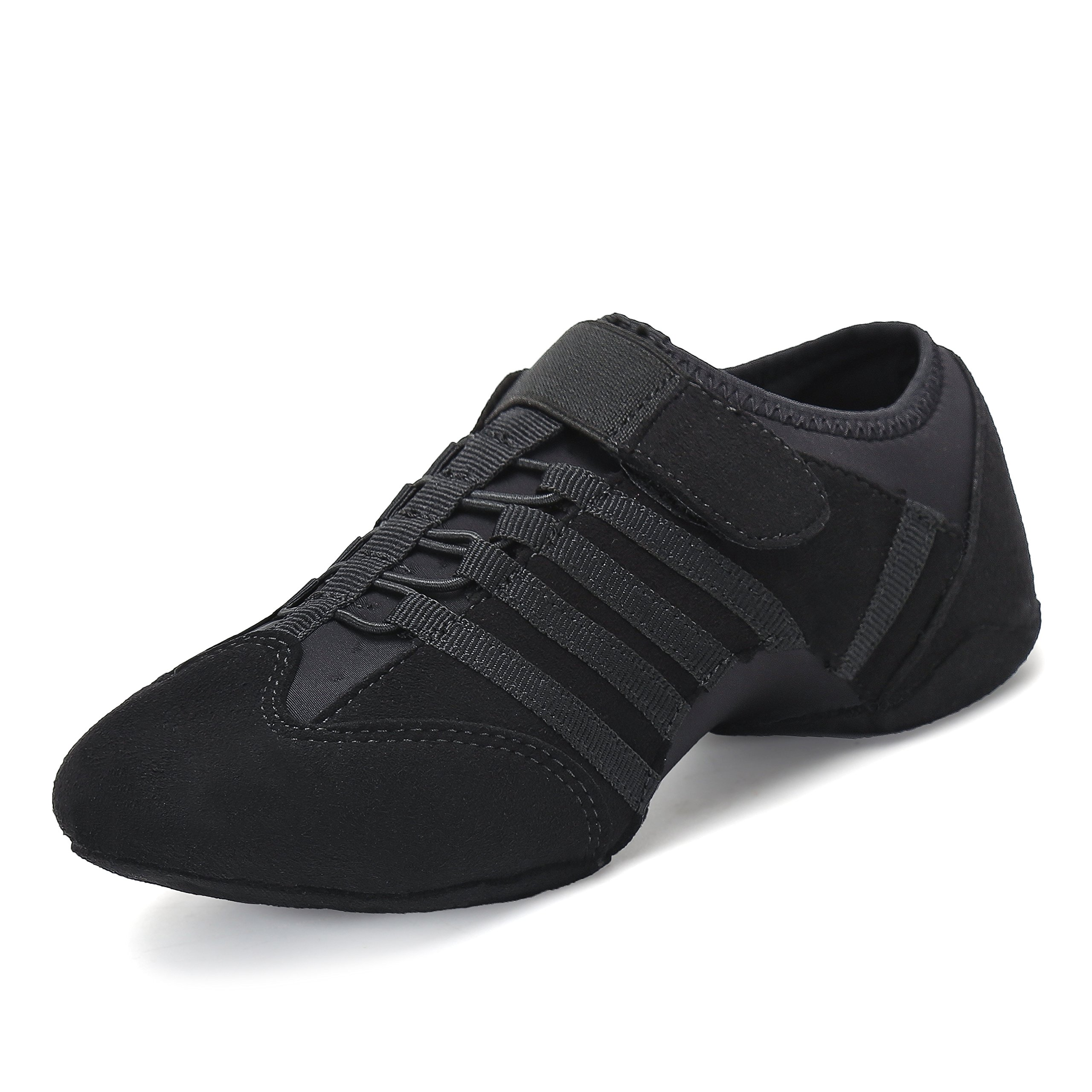 Jazz Shoes for Women Slip On Flexible Suede Girls Split Sole Ballet Dance Shoe Hook and Loop