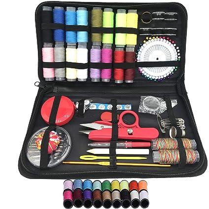 kit de costura de emergencia campistas y hogar /… GRATIS Extra 20 colores m/ás /útiles de hilos KIT DE COSTURA Mini kit de costura de viaje 38 carretes de hilo kit de costura de principiantes