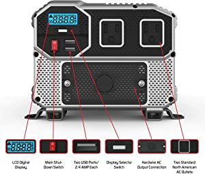 Energizer 4000 Watts Power Inverter 12V to 110V