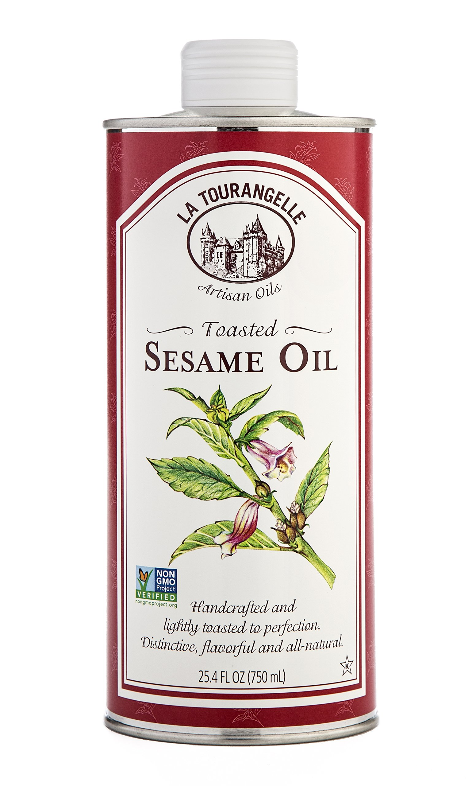 La Tourangelle Toasted Sesame Oil 25.4 Fl. Oz.,  All-Natural, Artisanal, Great for Stir Fry, Noodles, or as a Marinade