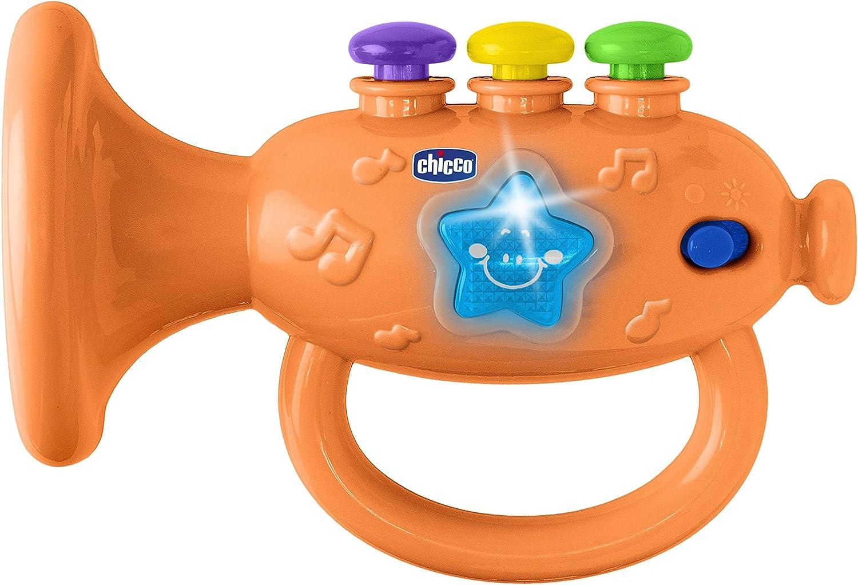 Chicco 00009614000000 Instrumento musical de juguete Trompeta juguete musical s Juguetes musicales Instrumento musical de juguete, Trompeta, 2 a/ño , Ni/ño//ni/ña, Multicolor, Bater/ía