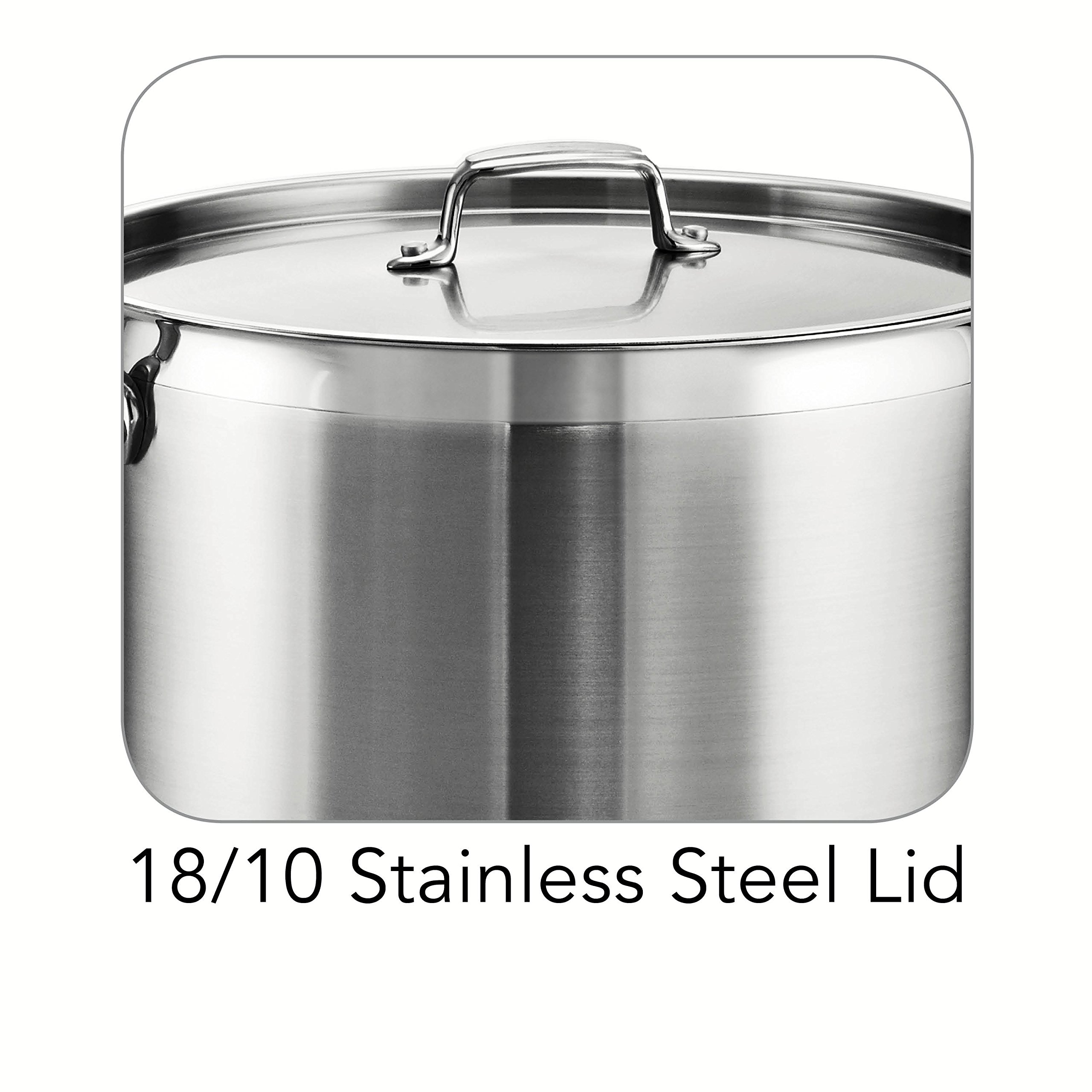 Tramontina 80120/003DS Tramontina Gourmet Stainless Steel Covered Stock Pot, 24-Quart by Tramontina (Image #4)