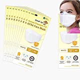 Premium 3D Disposable White Kids KF94 Face Mask, Age 5-15 Old, 4-Layer Filters, Individual Packs, White Color, Made in Korea.
