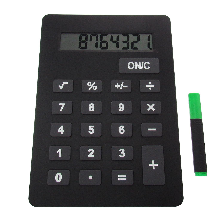 XXXL Taschenrechner 29 cm x 21 cm x 1,3 cm Rechner in /Übergr/ö/ße schwarz