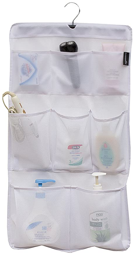 Amazon.com: MISSLO 8 Pockets Mesh Shower Organizer Hanging Caddy ...
