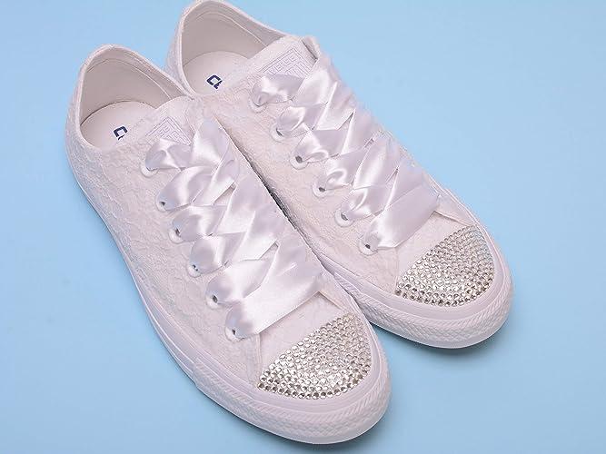 a454e12cafb6 Amazon.com  White Bling Sneakers For Bride