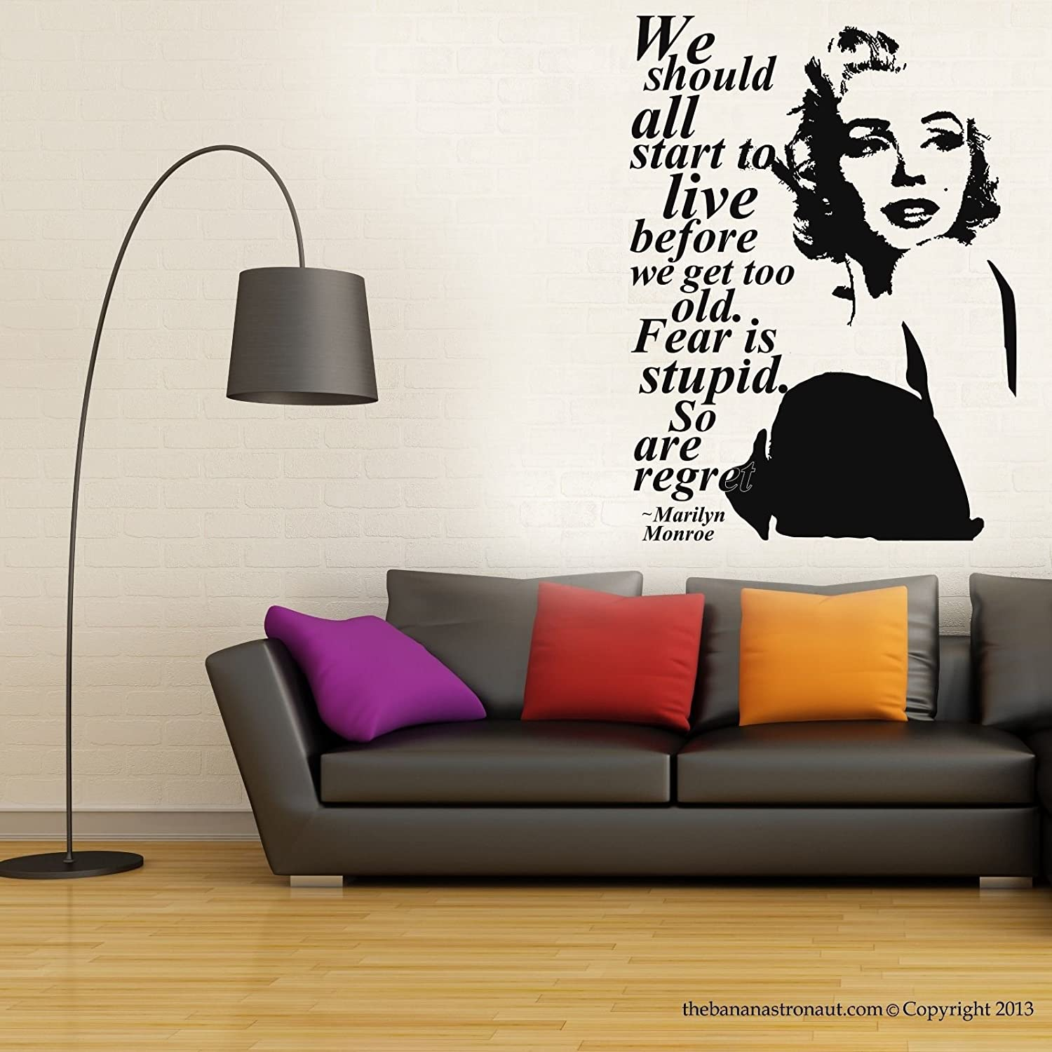 Amazon CHSGJY Removable Marilyn Monroe Quote Regret Wall Decal Stickers Room Decor Home DIY Kitchen