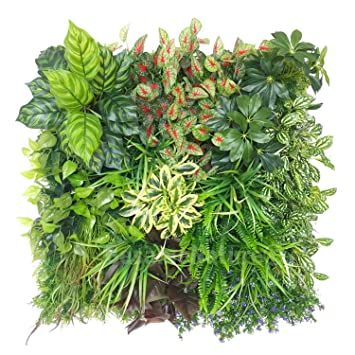 Artificial Vertical Garden 3D Green Plants Wall Panels/ Real Touch Plants  Mats, Style B