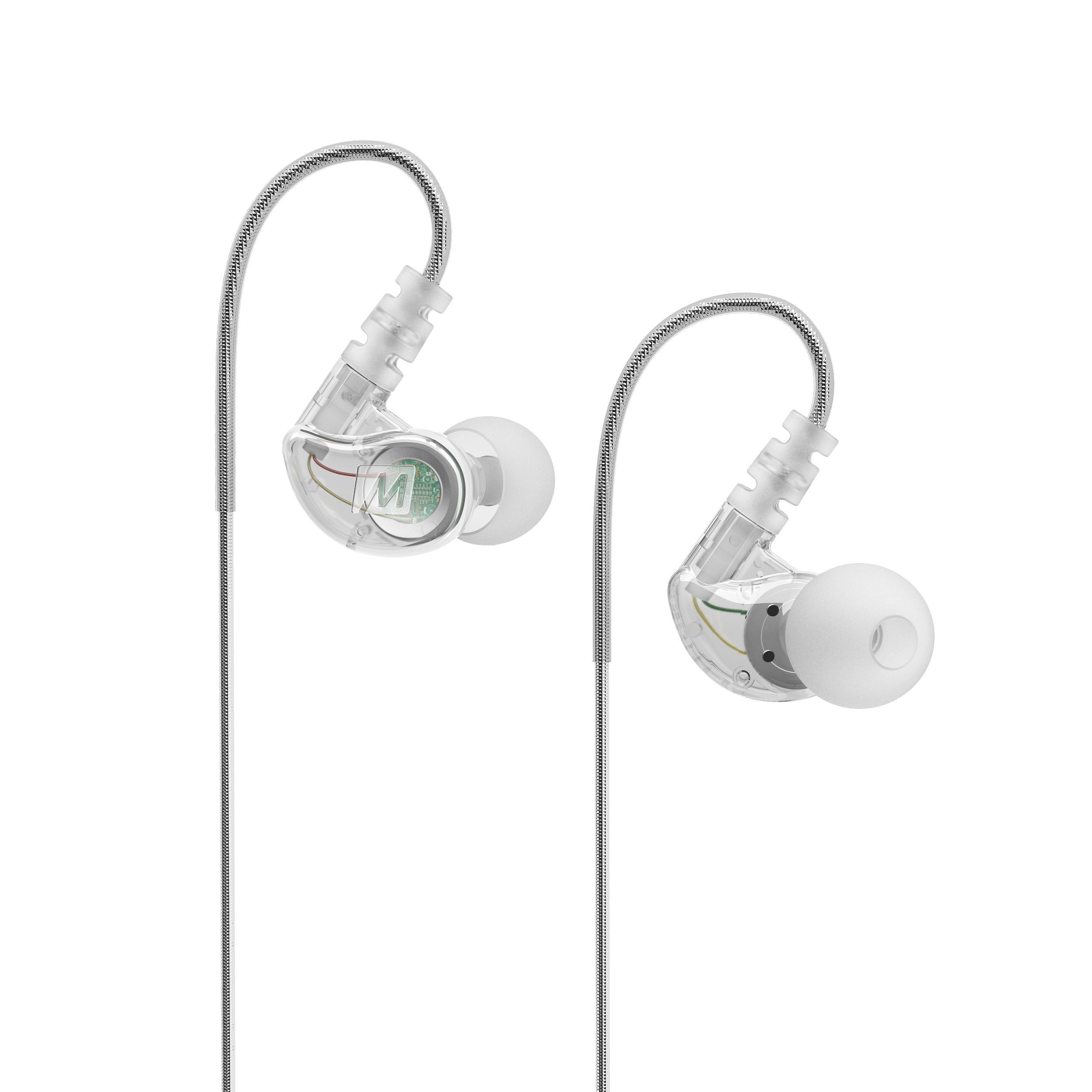 MEE audio M6 Memory Wire In-Ear Wired Sports Earbud Headphones (Clear) (2018 version) by MEE audio