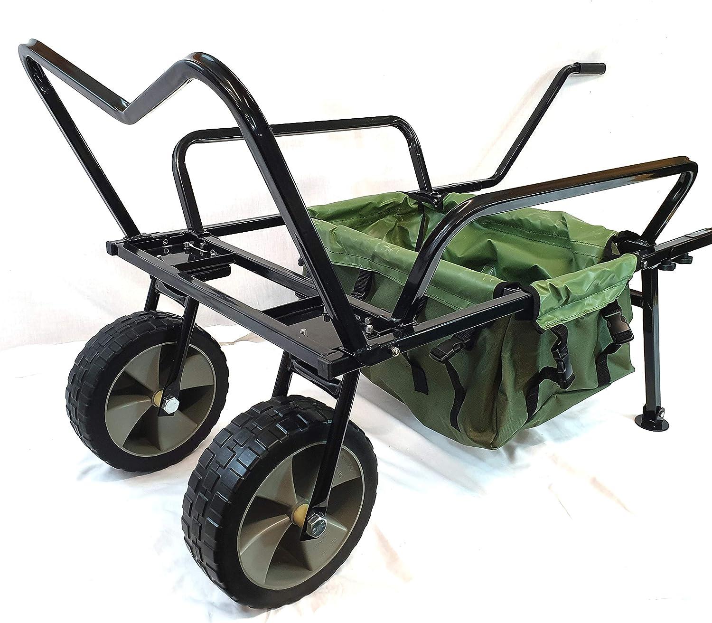 Bison Chariot de p/êche Pliable avec pneus pneumatiques Anti-crevaison de 25,4 cm