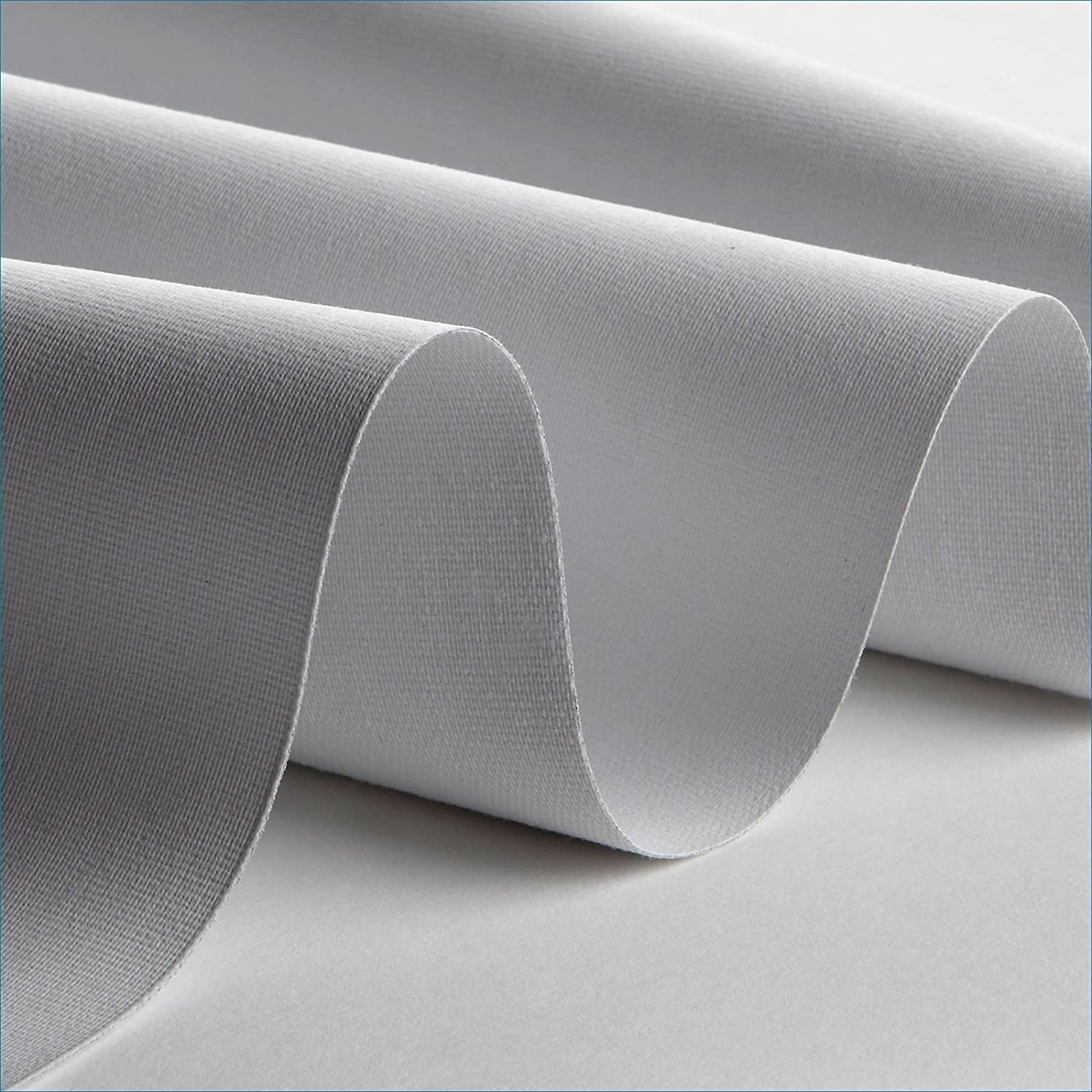 WHITE /& CREAM THERMAL BLACKOUT CURTAIN LINING FABRIC 3 Pass