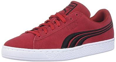PUMA Men s Suede Classic Badge SneakerBarbados Cherry Black9 M US