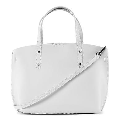 211d0a7823 OH MY BAG Sac à main en cuir glacé Chantilly blanc: Amazon.fr ...