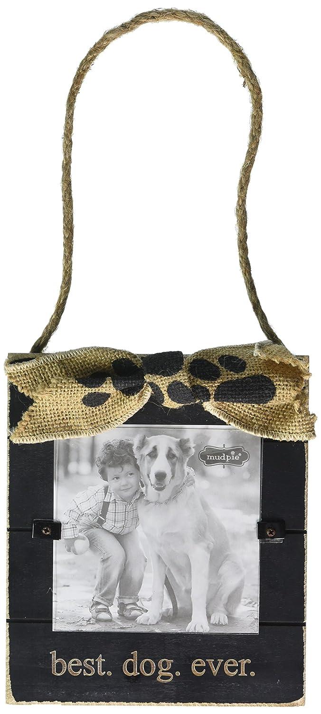 Amazon.de: Mud Pie Hund denkt sie sind Schwarz Rahmen, 7, 6 x 12, 7 ...