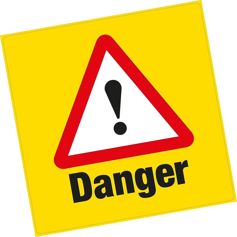 2/x avertissement de danger Vinyle autocollant Grande Sant/é et s/écurit/é Home Business Shop