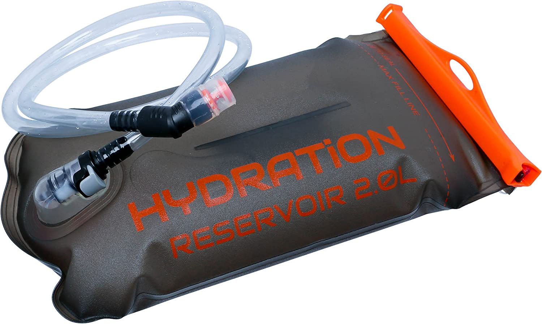 Perfect Hydration Bladder – Leakproof Water Reservoir、NOプラスチック味、FDA承認、BPAフリー – 2l / 3l Metalic グレー 2L