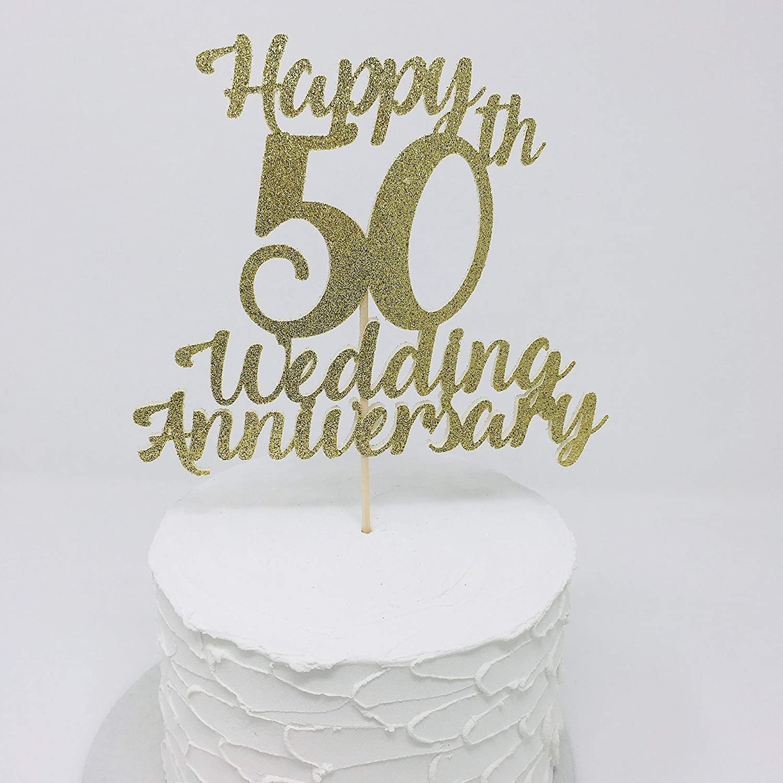 Amazon Com Wedding Anniversary Cake Topper 1st 2nd 10th 20th