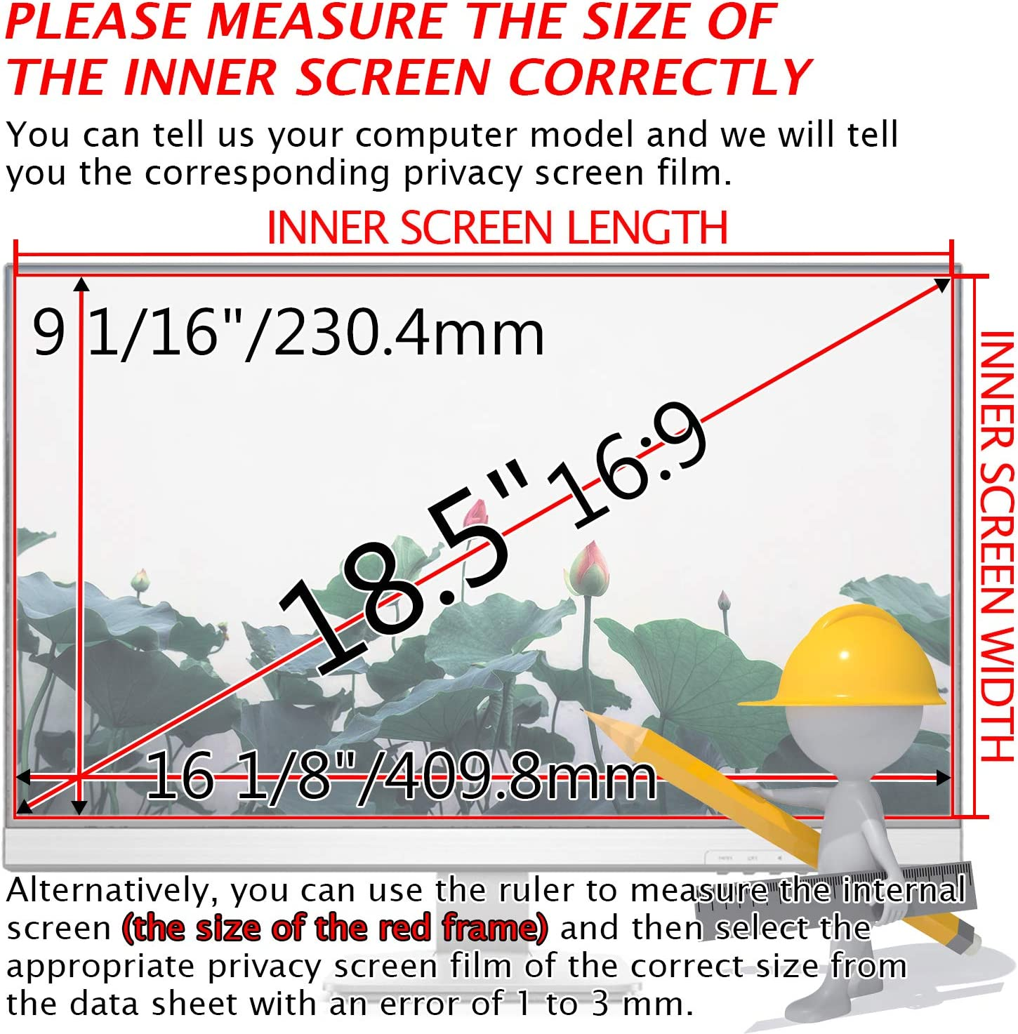 35 Inch 21:9 Aspect Ratio Computer Privacy Screen Protector Privacy Filter for Widescreen//Curved Screen Computer Monitor Xianan Protect Computer Privacy Anti-Glare