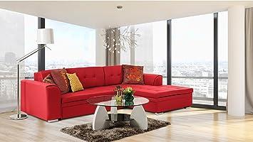 JUSThome Conforti sofá esquinero, sofá, sofá cama, de piel ...