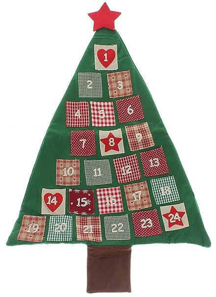 Calendario Dellavvento In Feltro.Calendario Dell Avvento In Feltro Albero Di Natale Amazon