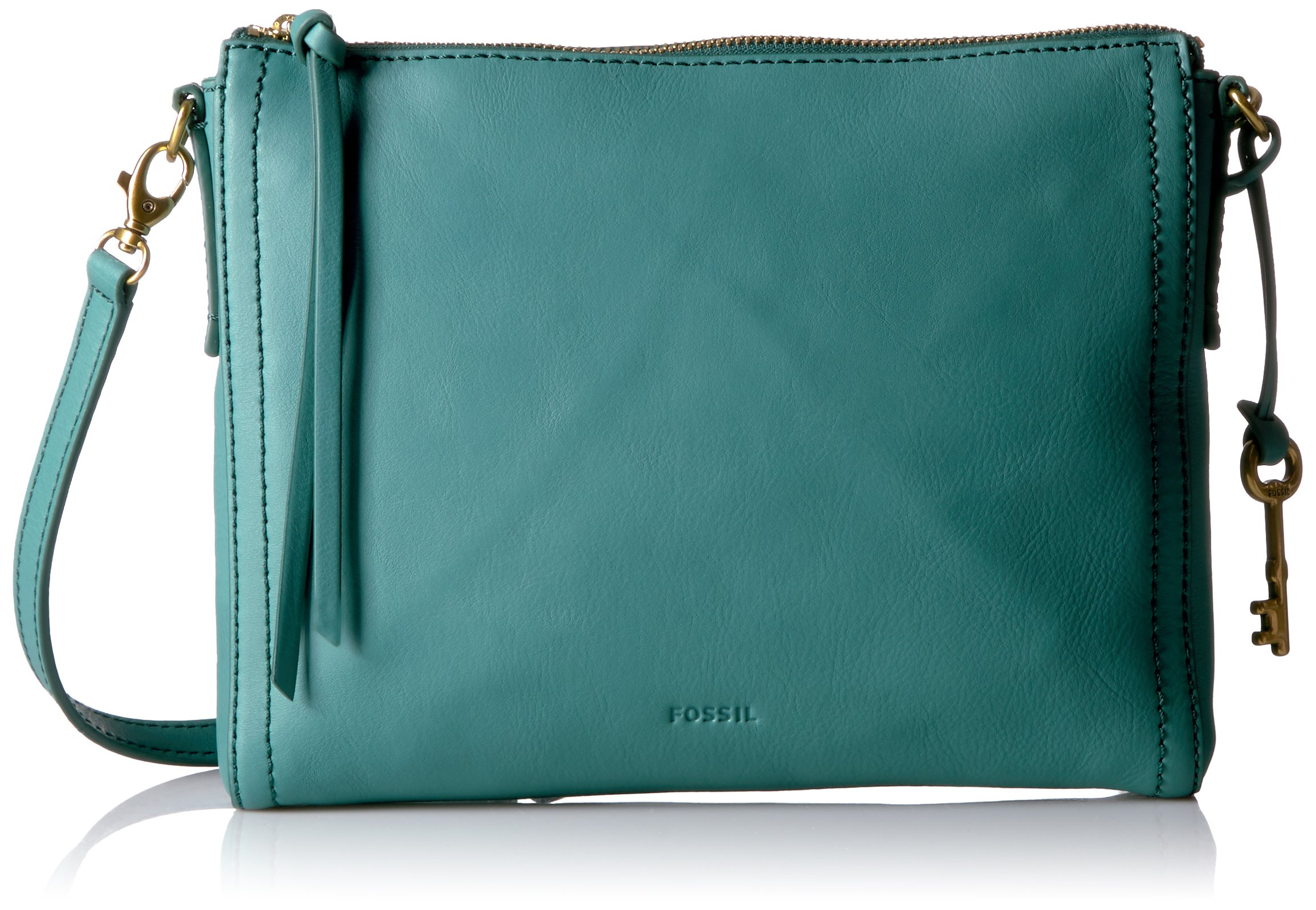 Fossil Emma Ew Crossbody, Teal Green