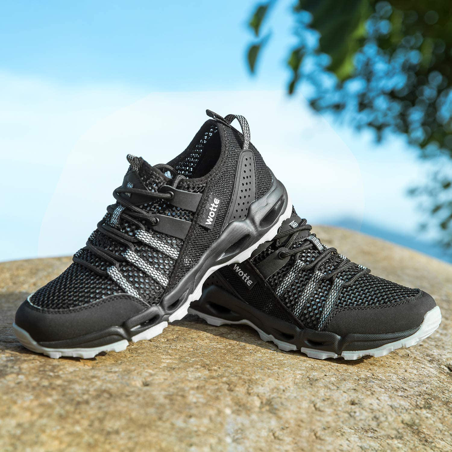 Quick Dry Breathable Textile Mesh Athletic Outdoor Sneakers Size 6-13 MAINCH Womens Hiking Water Shoes
