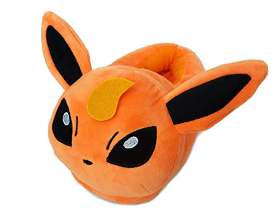 Ultra Soft Plush Flareon Pokemon Slippers